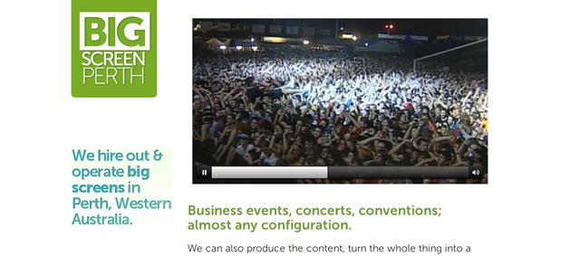 big screen perth screenshot