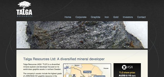 talga resources screenshot