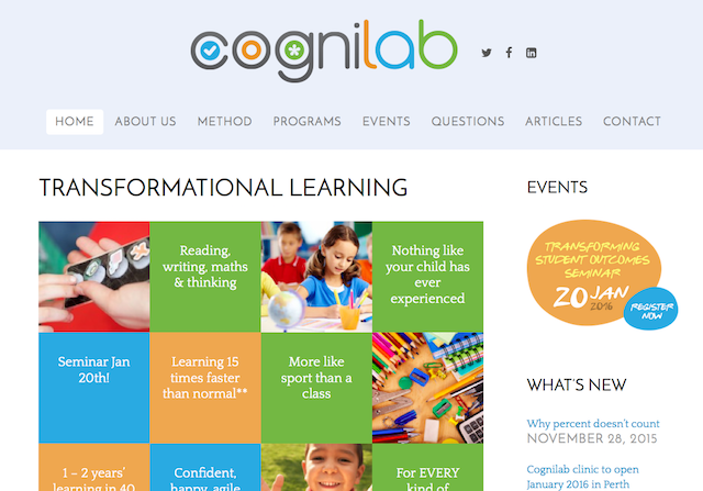 Cognilab screenshot