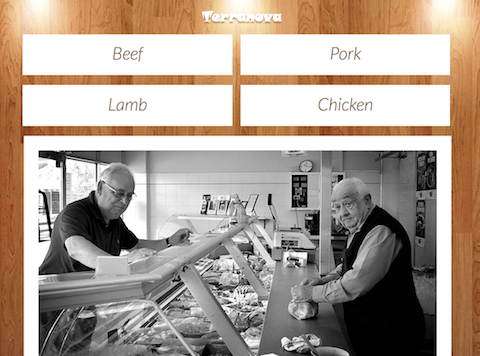perth's best butcher - screenshot of terranova home page
