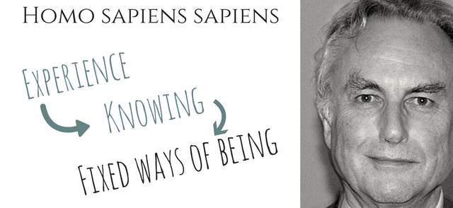 Homo sapiens - experience, knowing, fixed ways of being