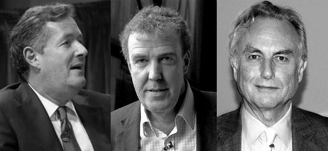 Pic Dawkins, Clarkson, Piers Morgan