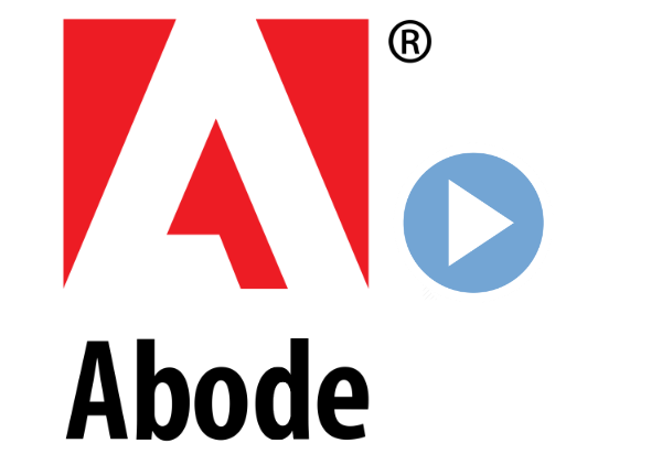 Adobe logo, spelled as Abode